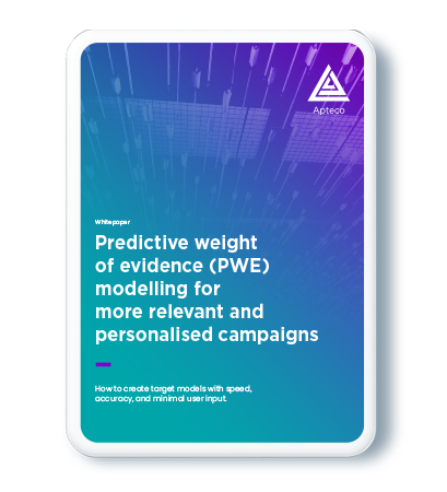 Front cover Predictive weight of evidence (PWE) modelling for more relevant and personalised campaigns